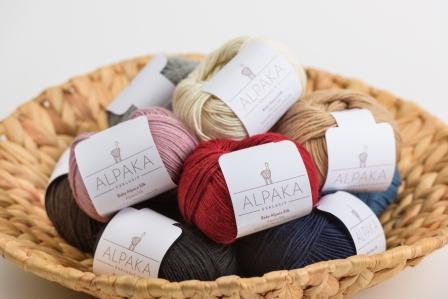 Alpaka Strick Wolle mit Seide